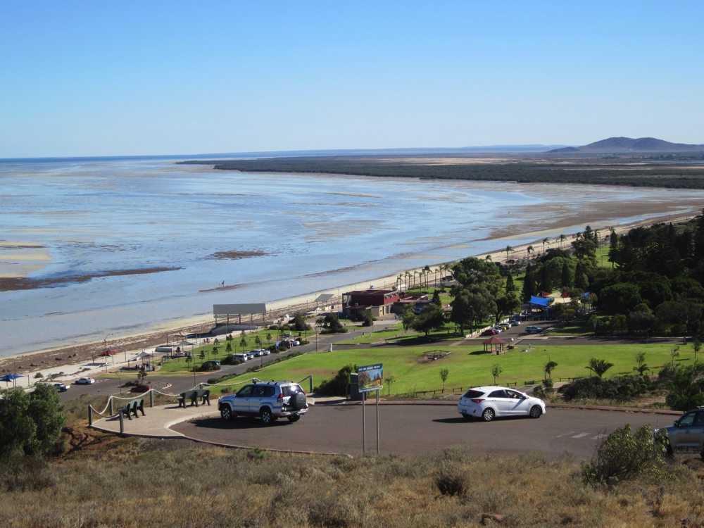 And on the other side of The Hummock - the beach. Low tide goes out a long way. Whyalla.