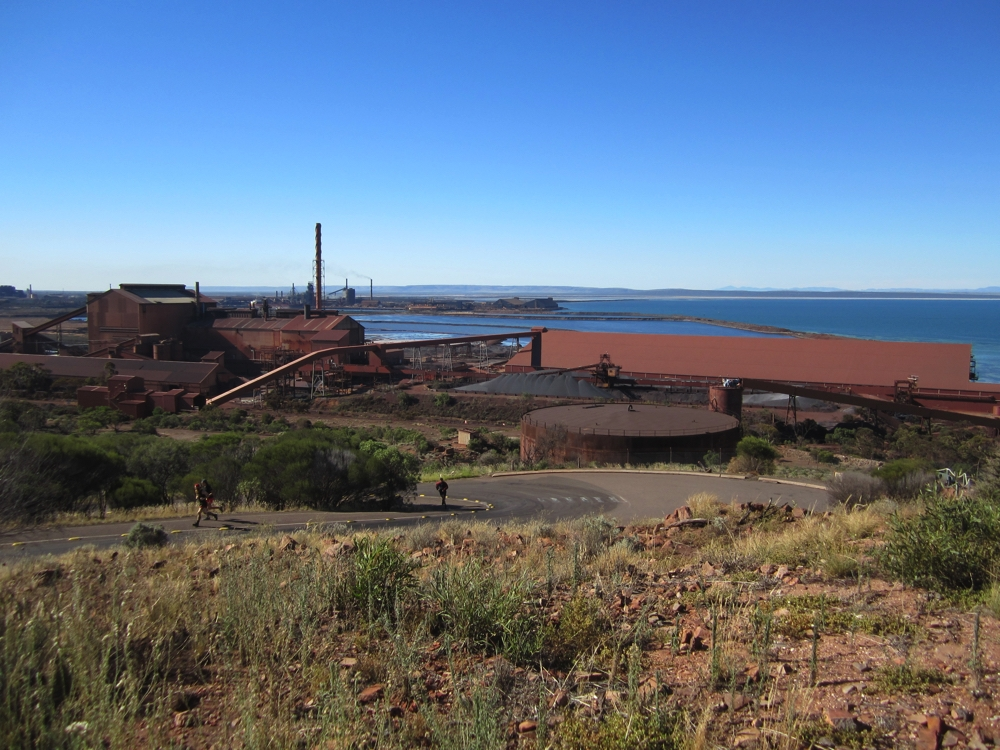 The steel works at Whyalla, taken from The Hummock.
