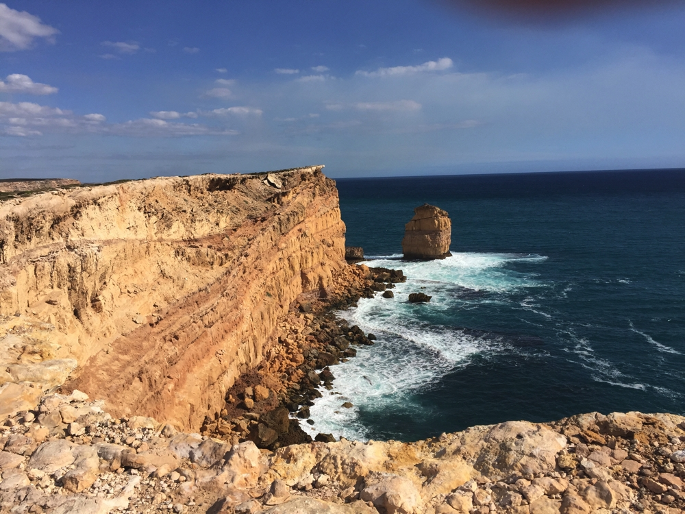 Stunning coastline of the Great Australian Bight as seen from Leo Cummings Lookout.
