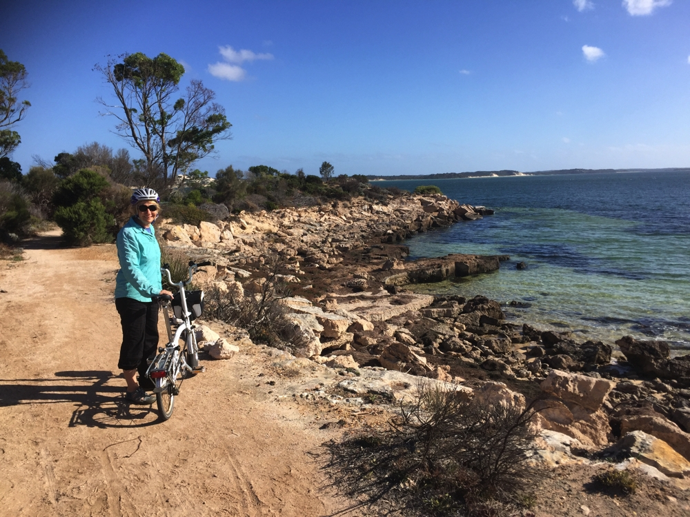 Lovely bike ride (even if we shouldn't have been riding!). Coffin Bay Oyster Trail.