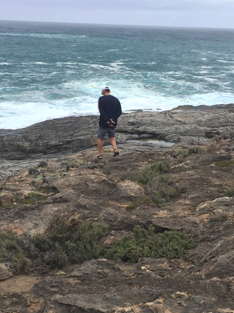 Walk carefully Steve. That blowhole may blow any minute. Flinders Crevasse.