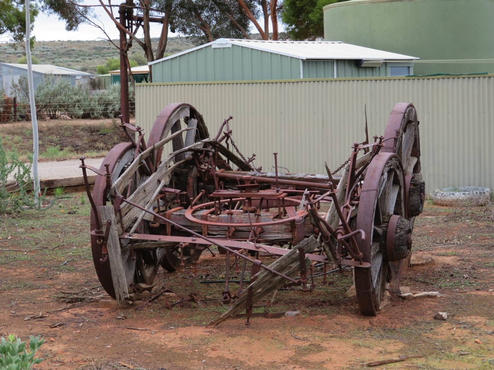 Relics of a bygone era. Outside the Hawker Railway Station