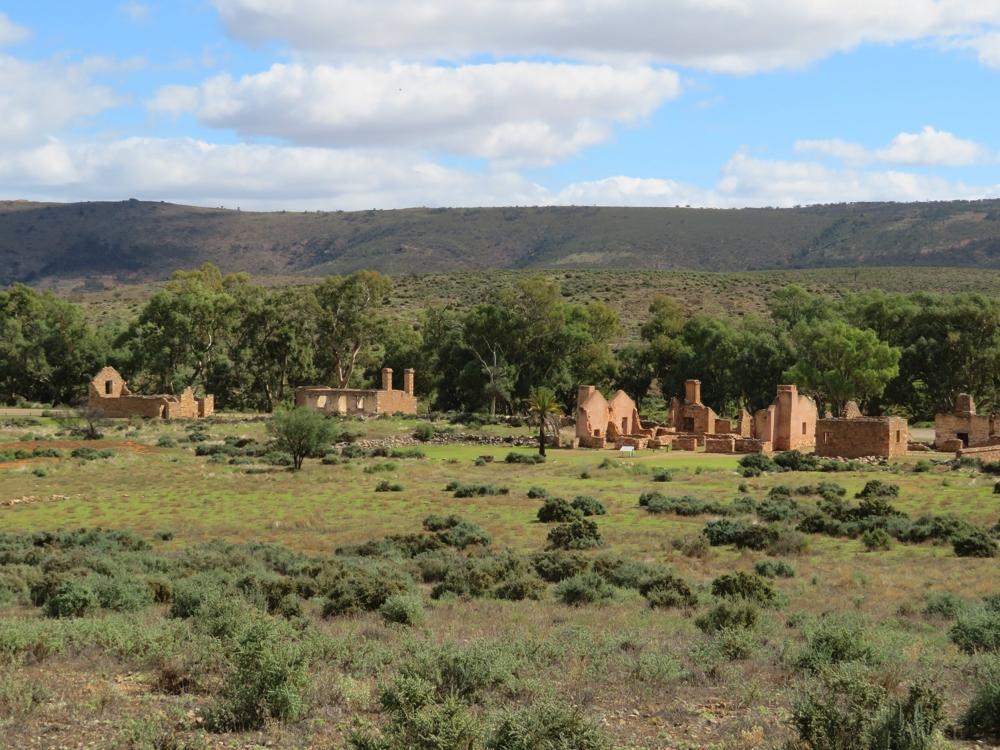 The ruins of Kanyaka Station.