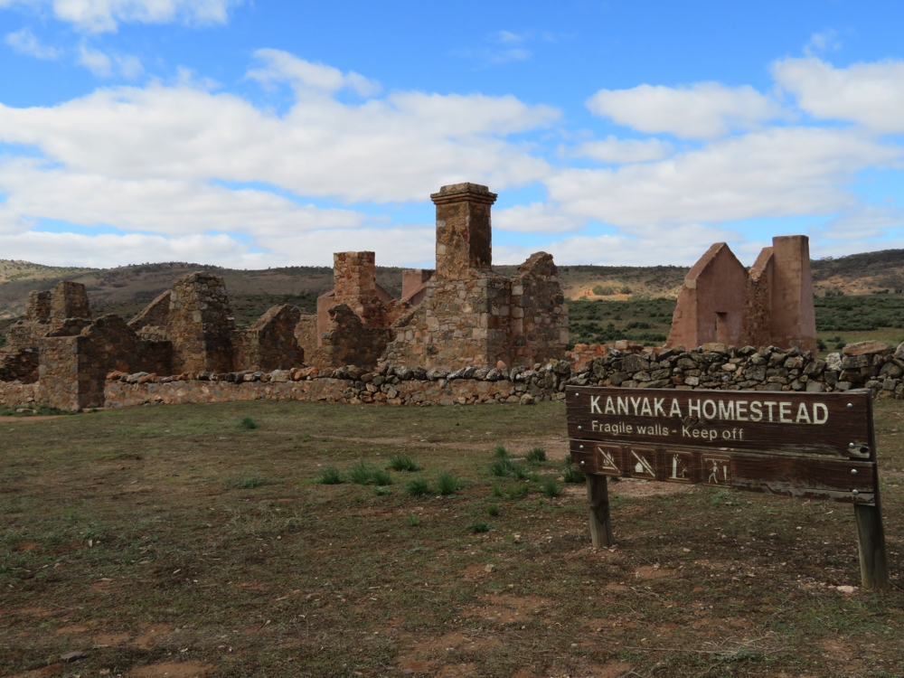 Kanyaka Homestead. It would have once been an impressive place to live, in its day.