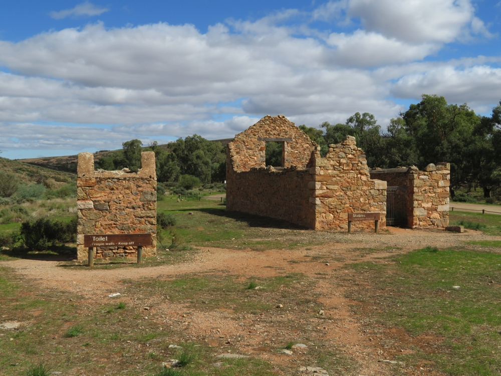 The toilet, though there were also two in the homestead, and the stables. Kanyaka Station