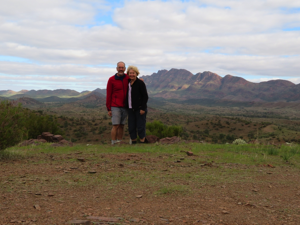 The Elder Ranges are behind us. Taken on our Moralana Scenic Drive.