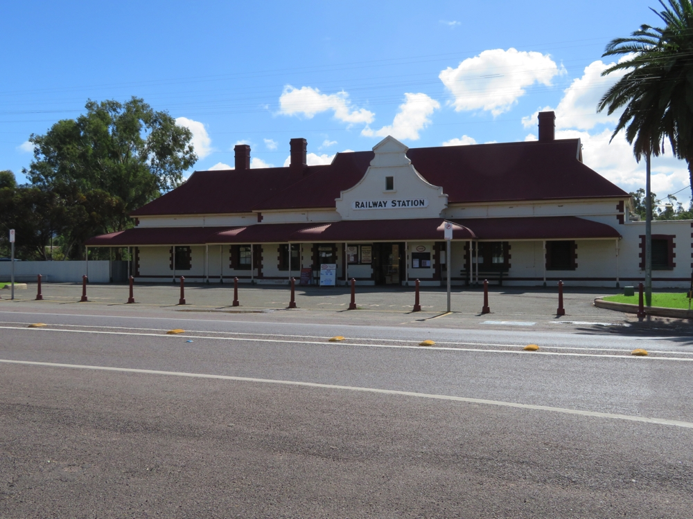 The railway station at Quorn. Once used for the Ghan, now the Pitchi Ritchi Railway has tourist trains leaving here a couple of times a week.