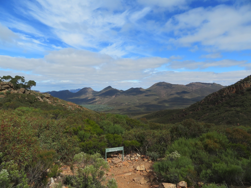 The view of the Pound from Tanderra Saddle.