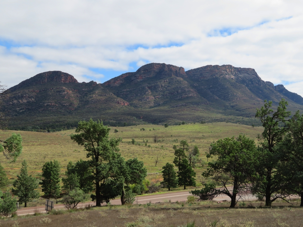 Part of the Wilpena Ranges, Flinders National Park. Seen from a lookout on our way in.