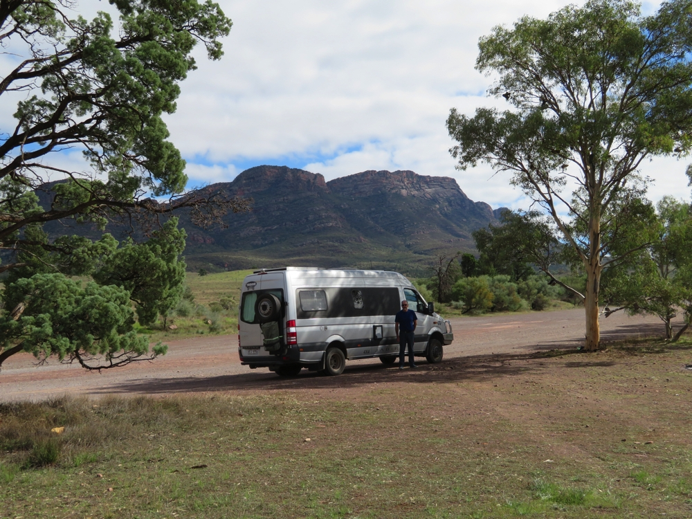 The Wilpena Ranges, on the drive to enter the park.