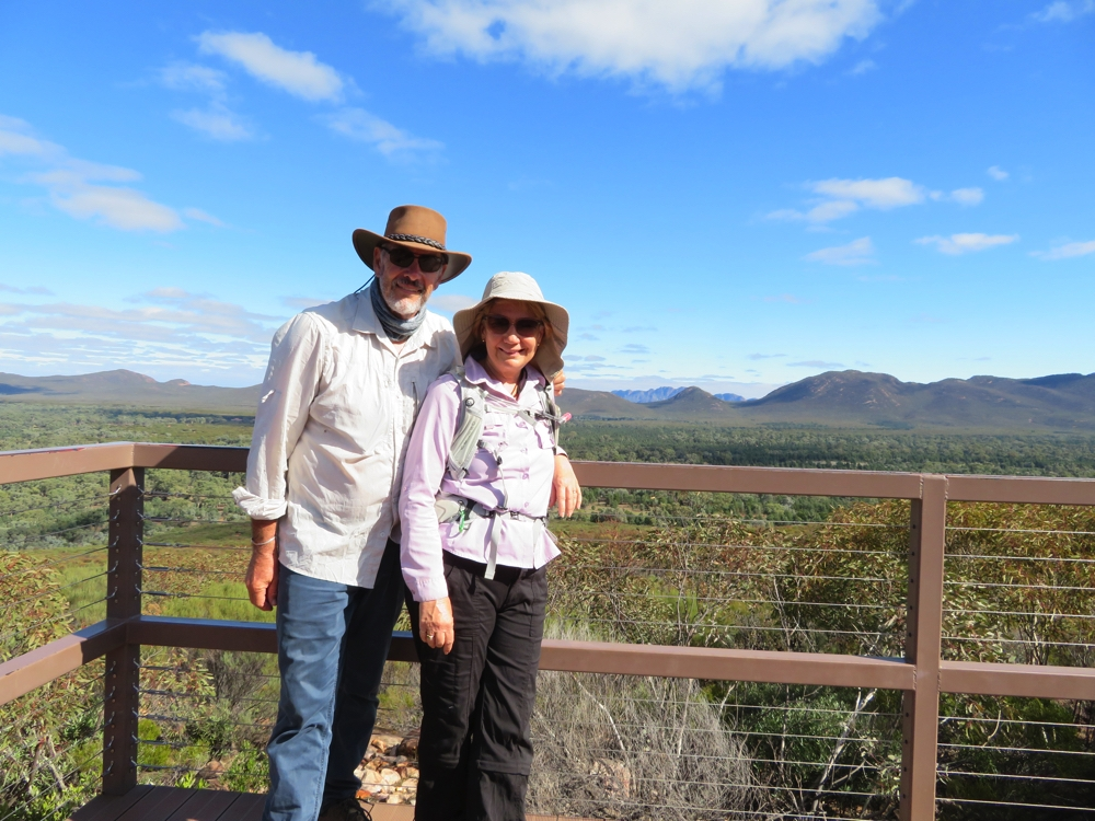 At the Wangarra Lookout, overlooking Wilpena Pound.