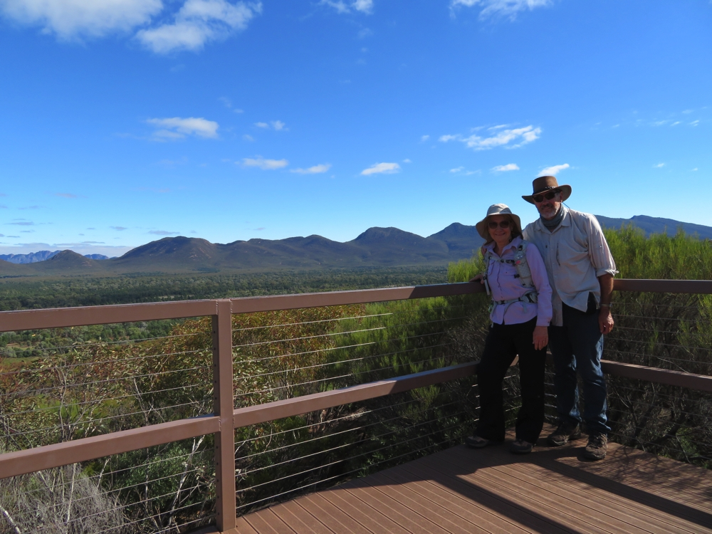 Lovely views from the lookout at Wangarra. Wilpena Pound.