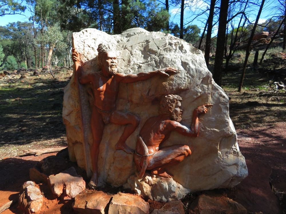 A 'small' tribute to the original inhabitants of this area. Wilpena Pound.