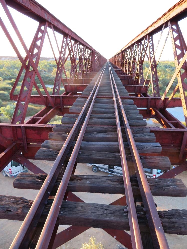The Algebuckina rail bridge is the longest bridge in South Australia.