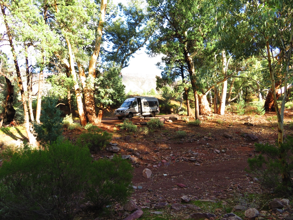 Campsite, Aroona Ruins. Had the place to ourselves.