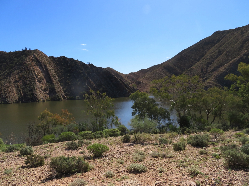 Aroona Dam is very deep. It's perfect for this climate, having a small surface area, but deep.
