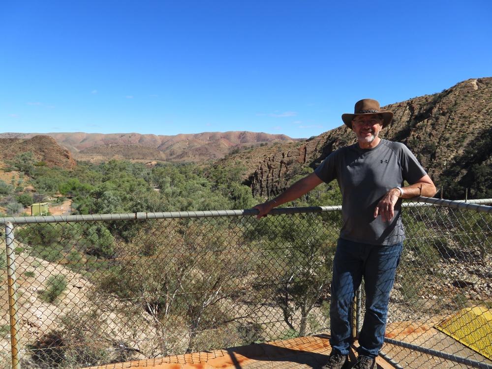 Steve, inspecting Aroona Dam.