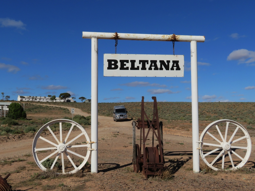 Entrance to the Beltana Station.