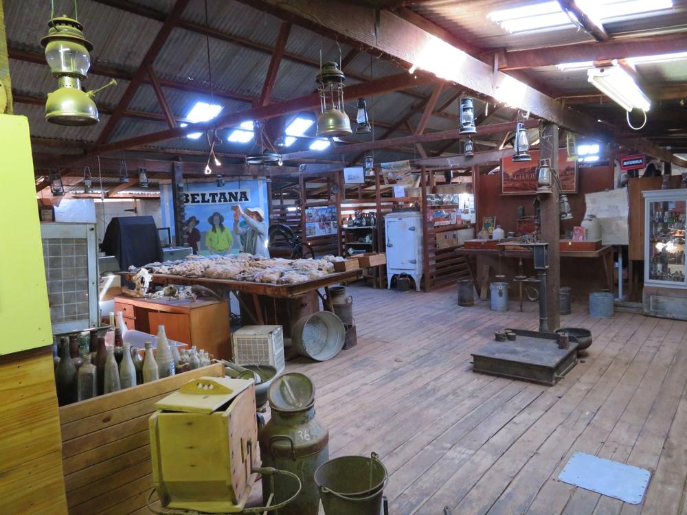 Beltana Station shearing shed museum.