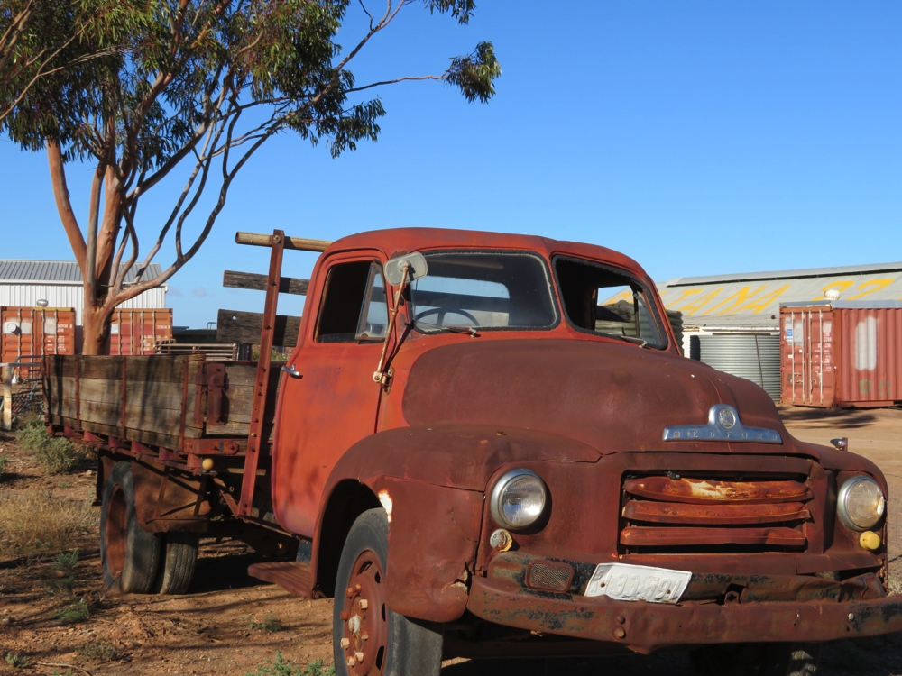 The old Bedford work truck. Everything has its day.