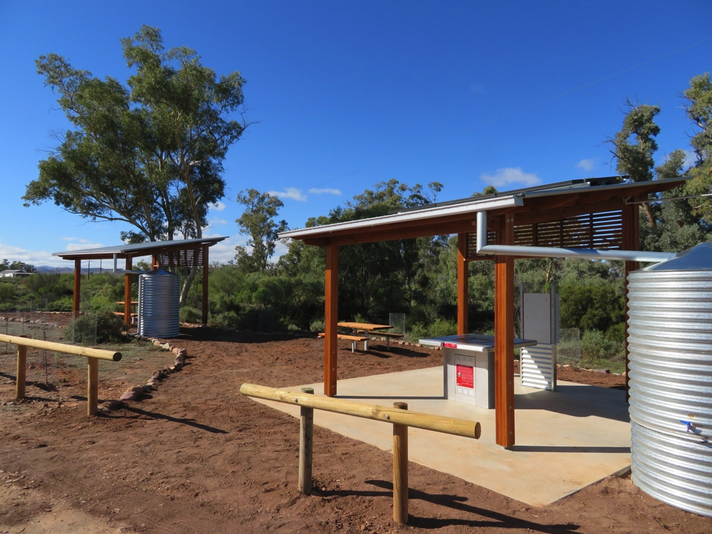 A brand new picnic area, and possibly campsite, is being built at Beltana town.