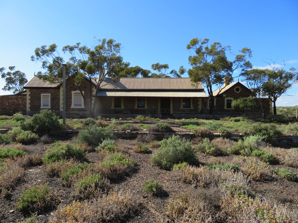 This was the old railway station in Beltana. The Ghan stopped here until 1956 when the line was realigned 10km to the west as a result of the coal mine at Leigh Creek. It's now privately owned and become someone's home.