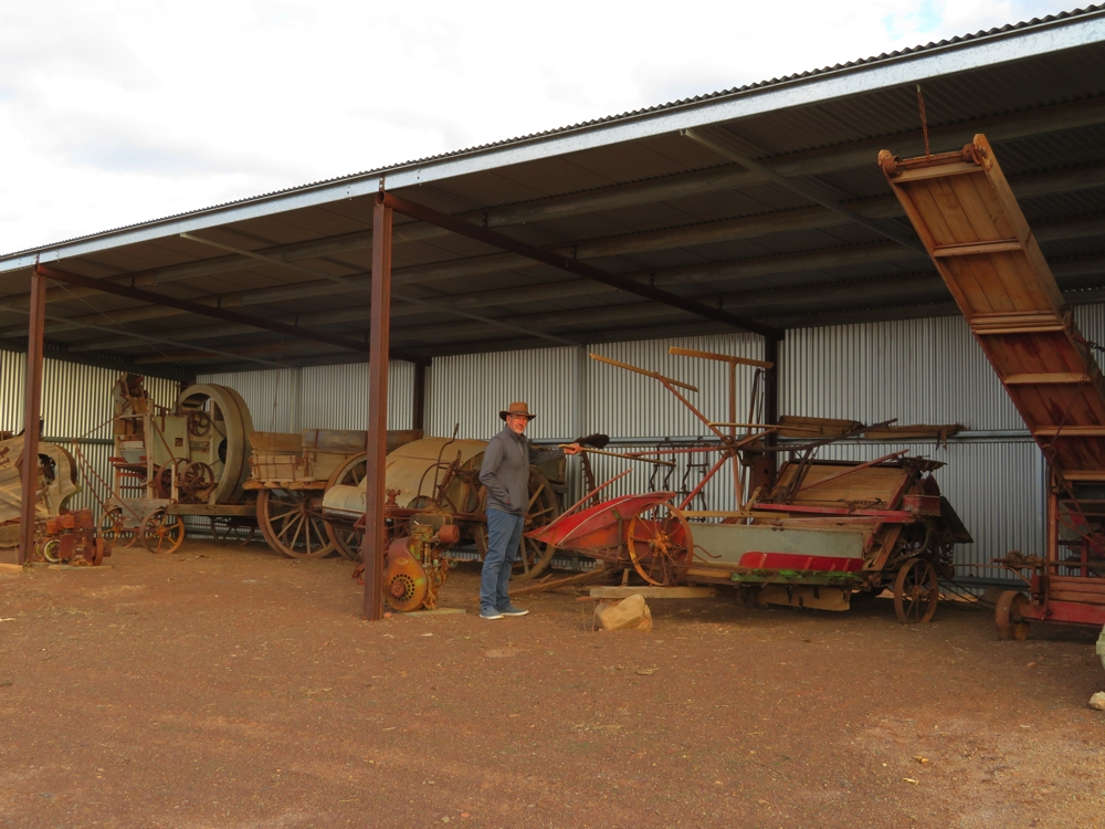 The museum machinery. Beltana Station.