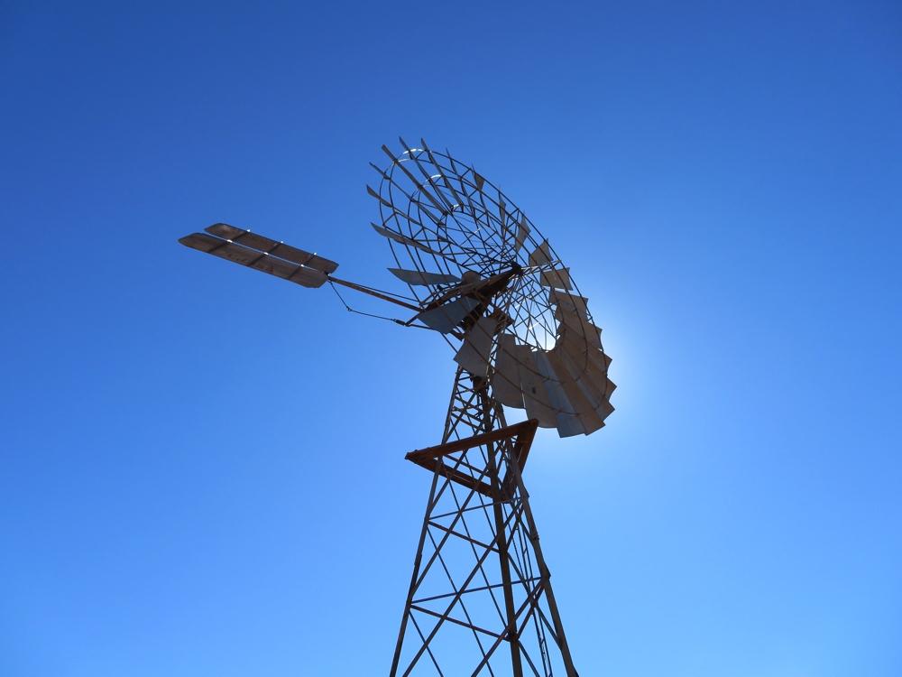 Bloods Bore windmill.