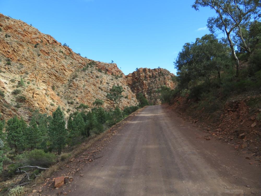 Heading down Brachina Gorge.