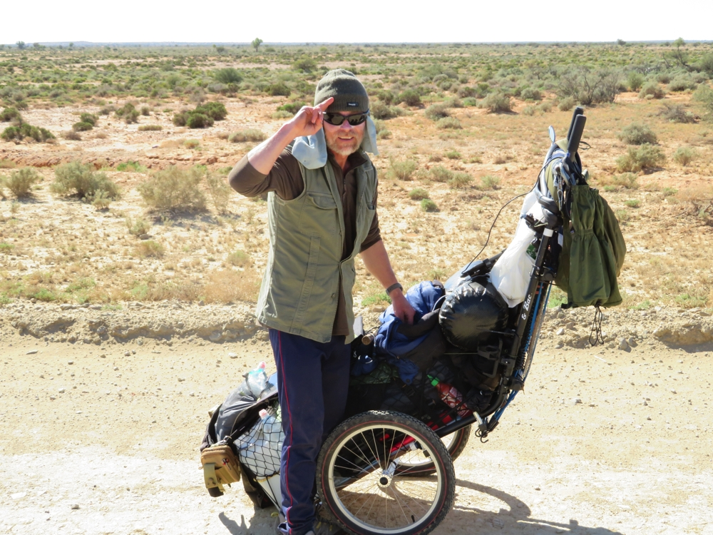 Brendon, a crazy (in my opinion) Brit who is walking from Adelaide to Karumba. Now that's a trek and a half!