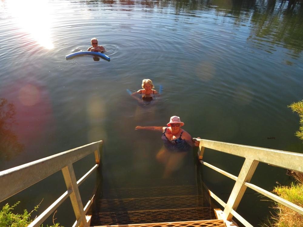 The beautifully refreshing Dalhousie Springs.