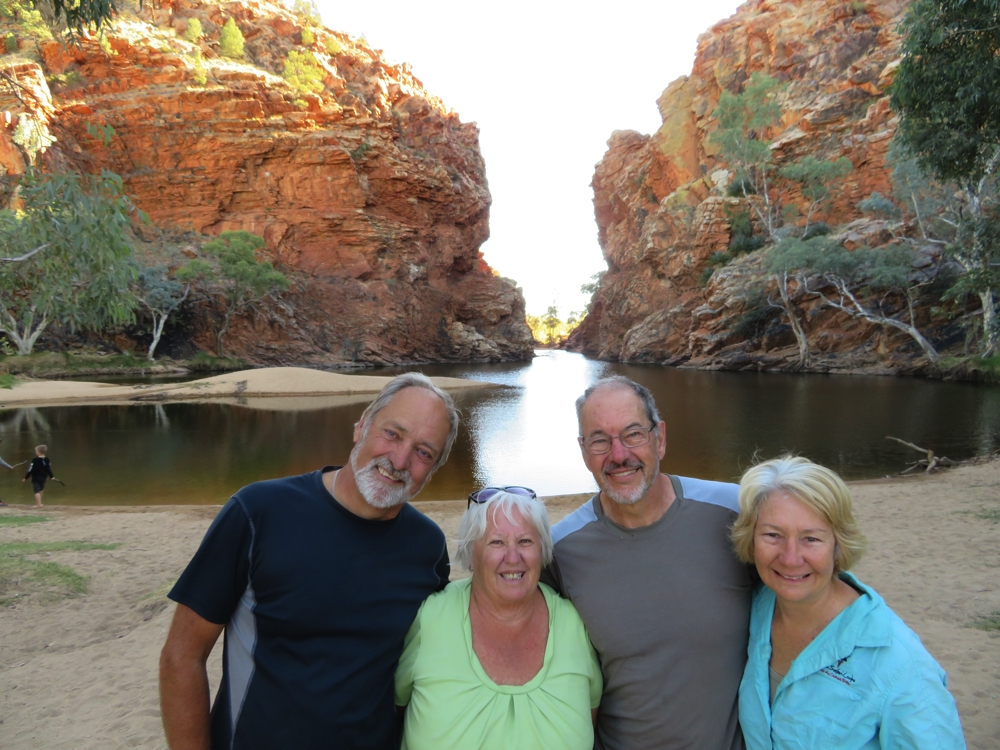 The four intrepid travellers at Ellery Big Hole