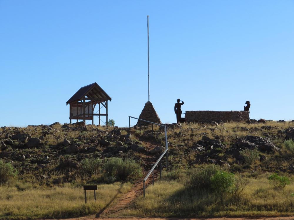 The ANZAC memorial at Farina Campsite.