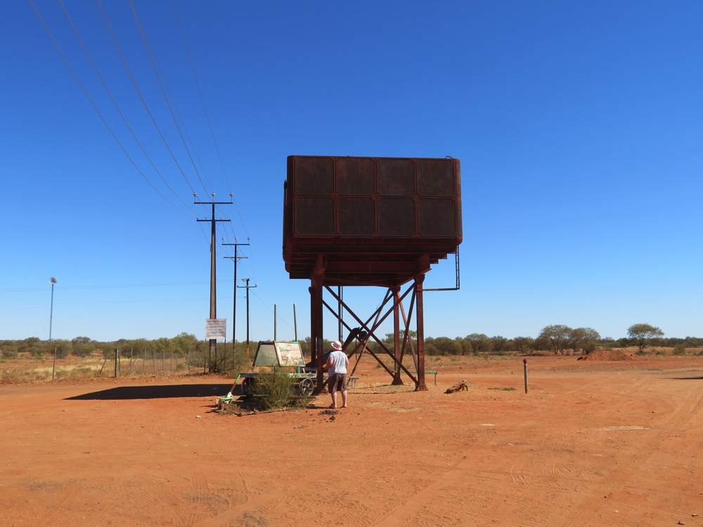 Yep, another Ghan water tower - this one is at Finke.