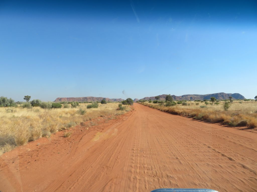 A few corrugations on the way into Gosses Bluff crater. It got worse!