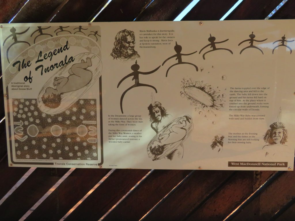 The aboriginal creation story relating to Tnorala (Gosses Bluff crater)