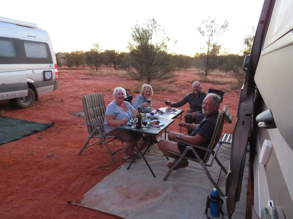 Delicious dinner, right in the very middle of Australia.