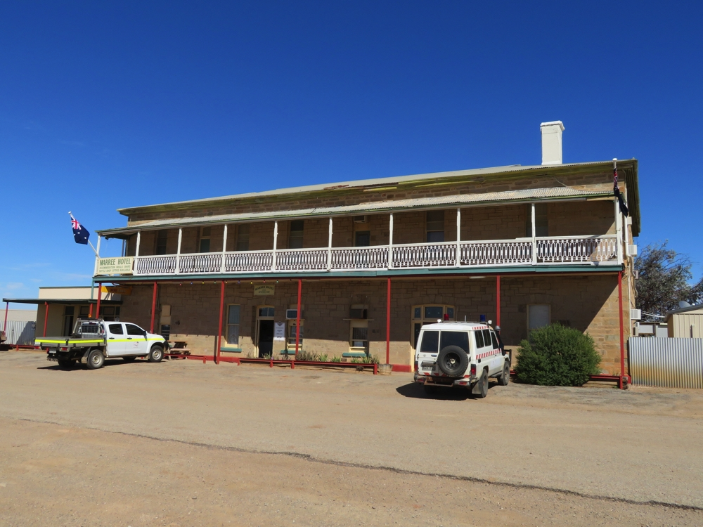 Marree hotel. It's sated many a thirsty person since before the days of the Ghan.