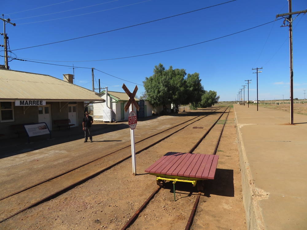 The old Ghan lines have been retained here in Marree, and the railway station is in good repair. Some of the buildings have been repurposed and continue to serve the community.