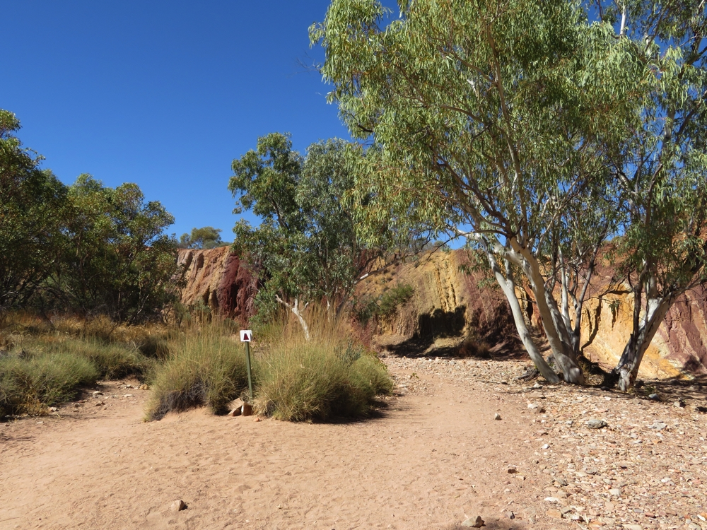 The beautiful colours of the ochre could be seen as we walked towards the pits.