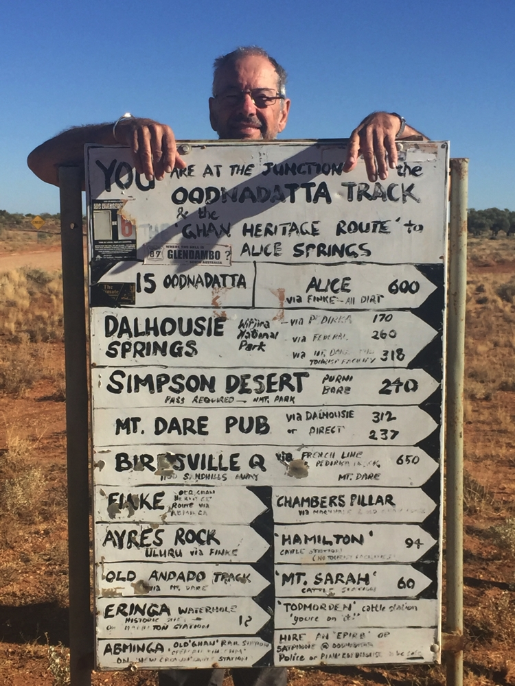 This is where we leave the Oodnadatta Track as we head to Dalhousie Springs.