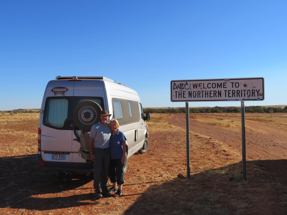 This is the first time Steve and I have driven in the Northern Territory.