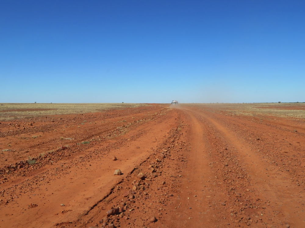 Gibbers and red dust.