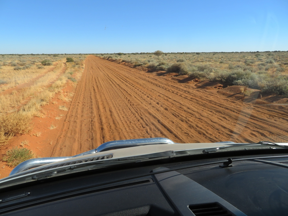 When driving on corrugations you spend your time swapping from one side of the road to the other, always sure it's less bumpy where you're not. Lucky it's rare to see any other traffic.