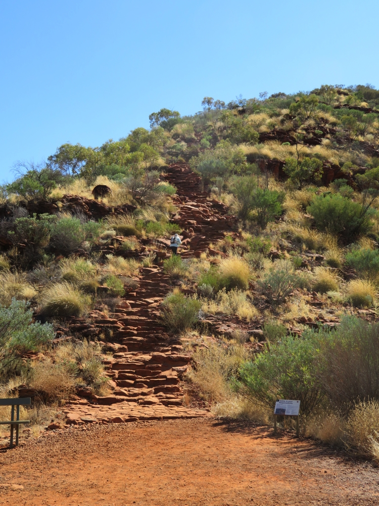 The steps to start the rim walk sorted out the serious from the idly curious.