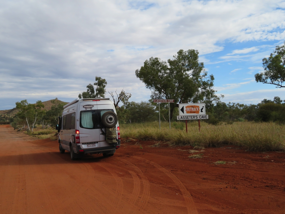 The signage for points of interest is quite good along the Outback Way.