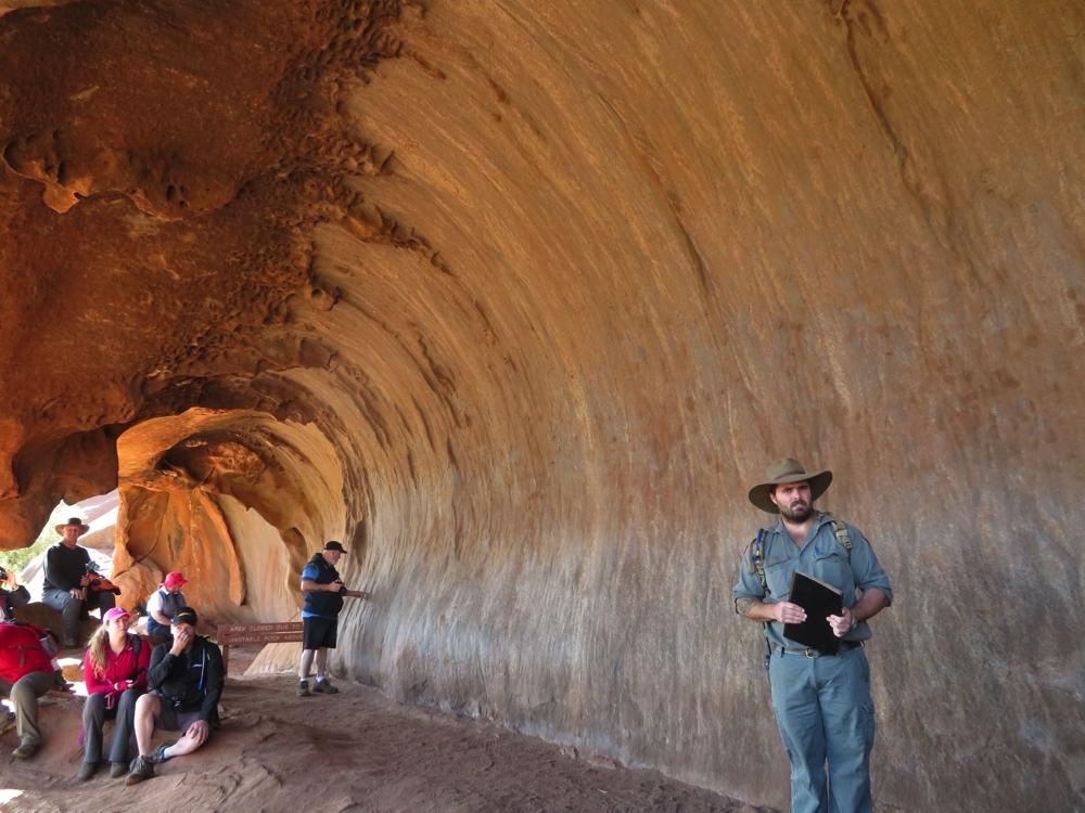 Ranger-guided Mala walk. Uluru.