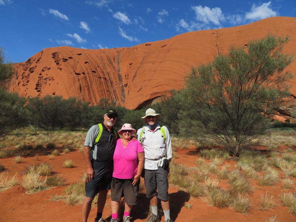 Ken, Wendy and Steve. Uluru