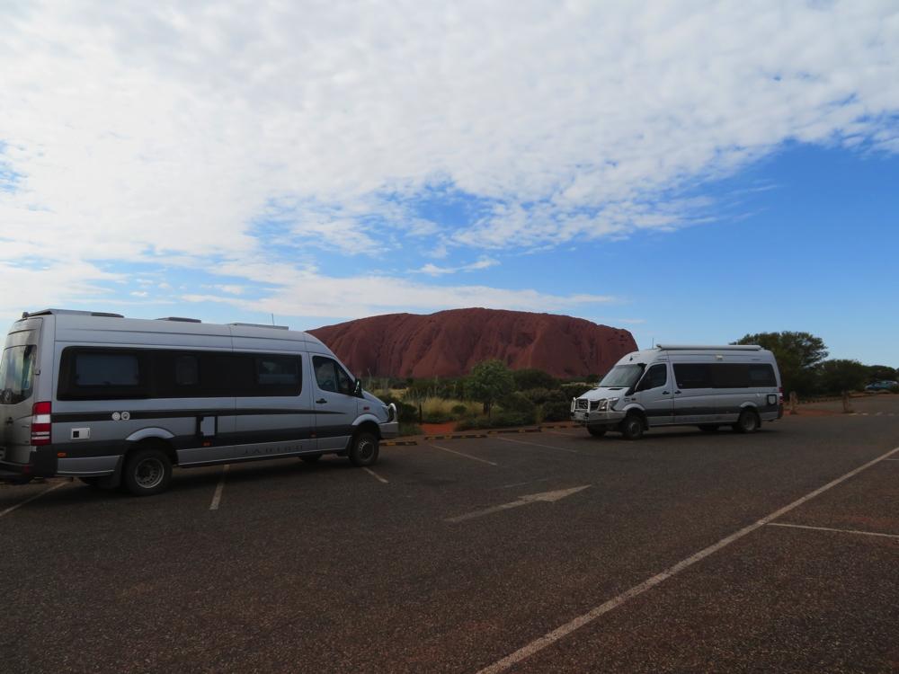 The two Trakkas at Uluru.