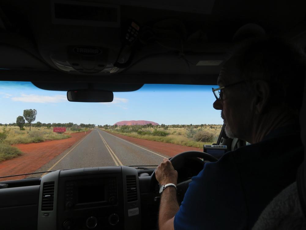 On the road to Uluru.